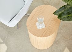 #Hightower Log Table features easily accessible storage crafted from bentwood oak with a natural clear lacquer finish.