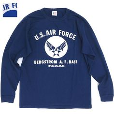 BUZZ RICKSON'S (バズリクソン)L/S T-SHIRT US AIR RORCE BERGSTROM A.F.BASE [BR67204][2色]