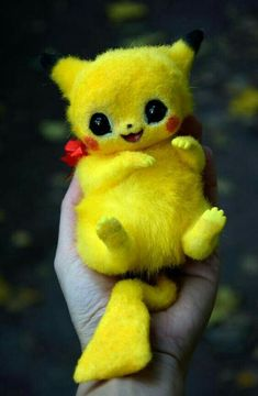 Pikachu from Pokemon. You can order any other Pokemon you like! Price may vary d… Pikachu from Pokemon. Baby Animals Super Cute, Cute Little Animals, Cute Funny Animals, Cute Cats, Cute Fantasy Creatures, Cute Creatures, Cute Pokemon Wallpaper, Cute Cartoon Wallpapers, Baby Animals Pictures