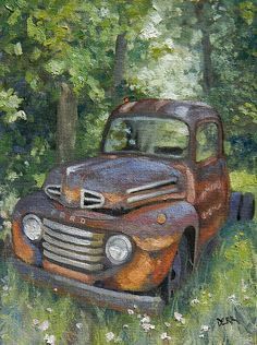 """Fishtrap Ford"" Oil Painting by Artist Todd Derr"