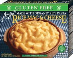 Amy Products - Dairy free   Rice Mac & Cheese