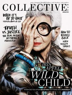 #cover #magazine from Collective hub april 2016 featuring Iris Apfel