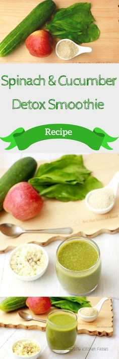 Spinach Cucumber Detox Smoothie A recipe for Spinach Cucumber Smoothie that not only cleanses the body but also aids weight loss click now for more. Cucumber Smoothie, Cucumber Detox Water, Detox Smoothie Recipes, Detox Recipes, Healthy Smoothies, Healthy Drinks, Healthy Recipes, Healthy Eating, Water Recipes