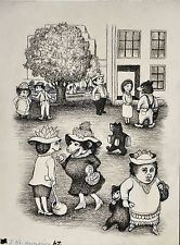 GARTH WILLIAMS~STUNNING ORIGINAL CHARCOAL DRAWING ~ JB'S HARMONICA Garth Williams #Illustration