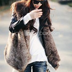 [USD $ 29.99] Sleeveless Collarless Collar Evening/ Career Faux Fur Vest (More Colors)
