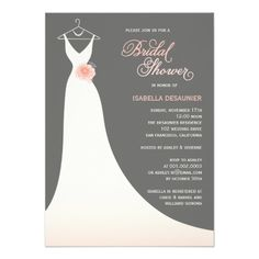 Exquisite Bride Bridal Shower Invitation Bridal Showers Shower