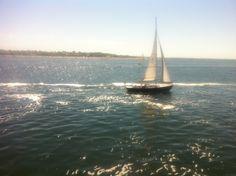 Nantucket Island. Classic boat.