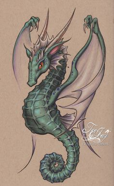 Discover recipes, home ideas, style inspiration and other ideas to try. Seahorse Drawing, Seahorse Tattoo, Seahorse Art, Seahorses, Pencil Art Drawings, Cool Art Drawings, Art Drawings Sketches, Mythical Creatures Art, Fantasy Creatures