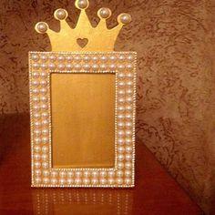 #portaretrato#coroa#princesa#menina#perola#strass