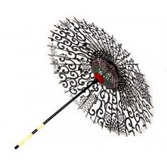 Black and White Japanese Paper Parasol