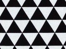 Tissu triangle kaufman noir blanc