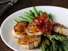 Asparagus with Scallops, Browned Butter and Prosciutto | Amazing Seafood Recipes ...