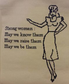 Strong Women Cross Stitch Chart PDF Instant Download