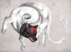 I'm convinced this will be my first tattoo! An Inugami (Dog/Wolf Spirit)
