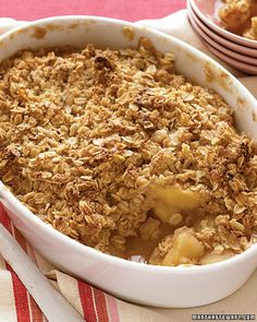 Apple crisp.. Trying this weekend after we pick some fresh apples from the tree!