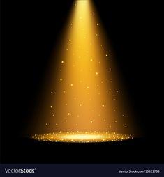 Gold spotlights vector image on VectorStock Gold Wallpaper Background, Iphone Background Images, Poster Background Design, Studio Background Images, Banner Background Images, Picsart Background, Lights Background, Wallpaper Backgrounds, Green Screen Video Backgrounds