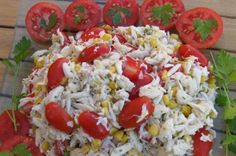 Corn, Crab, and Tomato Salad