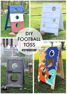 diy football toss custom versions #diyworkshop