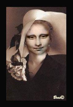 Brus© Mona Lisa Smile, Portrait, Statue, Lisa Lisa, Celebrities, Walls, Friends, Paper, Contemporary