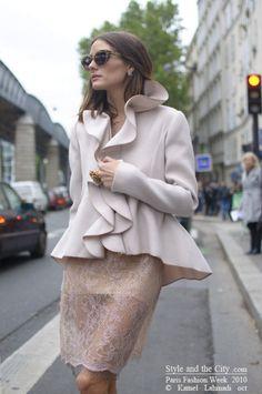 Ruffles & lace! #fashion