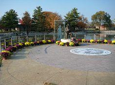 stamped concrete plaza memorial