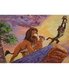 "Disney Dreams Collection By Thomas Kinkade The Lion King-5""X7"" 16 Count"