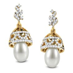 ** pearl drop earrings