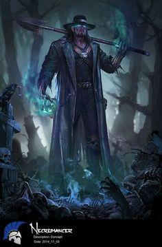 "ArtStation - WWE immortals The Undertaker, Zhao Yan ╮( ̄▽ ̄"")╭"