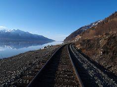 Train Tracks in Alaska by Len Radin