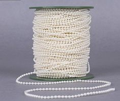 Joinwin 50M 1 Roll 3mm Cream Pearls Bead Garland Chain Wedding Decoration Center Candle Crafting DIY Favor * For more information, visit image link.Note:It is affiliate link to Amazon.