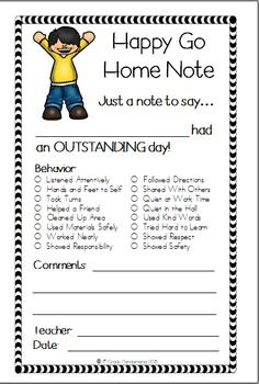 Positive Notes Home To Pas Hy Go Note