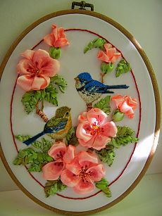 Wonderful Ribbon Embroidery Flowers by Hand Ideas. Enchanting Ribbon Embroidery Flowers by Hand Ideas. Ribon Embroidery, Ribbon Embroidery Tutorial, Simple Embroidery, Learn Embroidery, Hand Embroidery Patterns, Embroidery Kits, Embroidery Stitches, Embroidery Supplies, Band Kunst