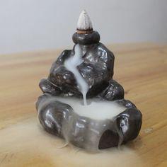 Handmade Censer Cloud Pool Backflow Ceramic Incense Burner HOT #Unbranded