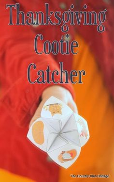 Thanksgiving Cootie Catcher -- a fun way for kids to show what they are thankful for.