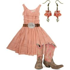 Complete country girl outfit -op Okay, even I like this country look. Country Style Outfits, Country Girl Style, Country Dresses, Country Fashion, My Style, Cowgirl Outfits, Western Outfits, Western Wear, Cowgirl Style