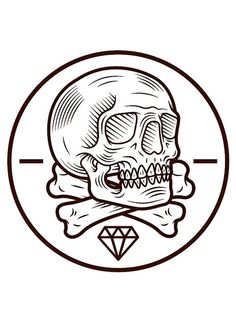 skull_trace on Flickr. Skull Logo, Skull Art, Tattoo Studio, Tattoo Drawings, Art Drawings, Skulls And Roses, Arte Popular, Skull Tattoos, Designer