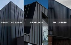 Standing Seam, Snaplock or Nailstrip, selecting seam cladding systems