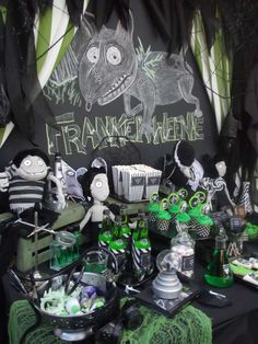 Frankenweenie party dessert table!  See more party planning ideas at CatchMyParty.com!