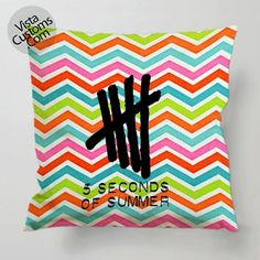 5 seconds of summer Logo Chevron pillow case, cover ( 1 or 2 Side Print With Size 16, 18, 20, 26, 30, 36 inch )