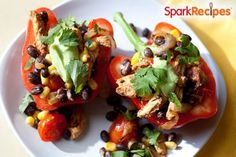 Chicken Fajita Stuffed Peppers Recipe by CHEF_MEG