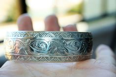 Vintage Art Deco Sterling Silver Cuff  by 911VintageAddiction