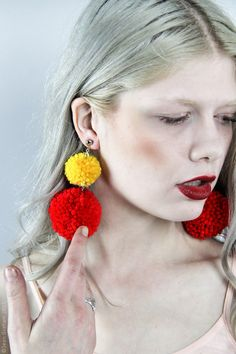 Pom Pom Earrings - Choose Your Color(s)