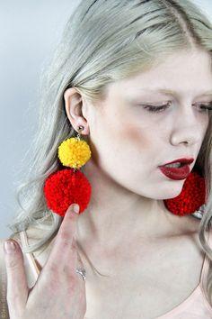 Pom Pom Earrings - Choose Your Color(s)