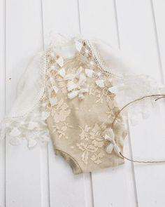 codR34 Newborn light peach Lace Bodysuit от 4LittlePrincessProps