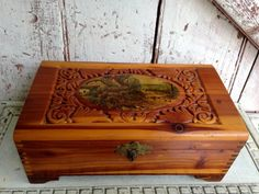 Vintage Small Cedar Chest, Box, Perfect For Jewerly, Treasures, Hankies Picture…