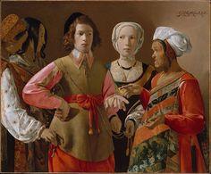 """""""The Fortune Teller""""  --  1633-39  --  Georges de la Tour  --  French  --  Oil on canvas  --  Metropolitan Museum of Art"""