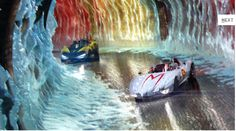 Racer X and Speed race through the Maltese Ice Caves during the Casa Cristo 5000. ©2008 Warner Bros. Ent.