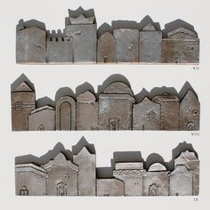 ceramic houses tile | Tiny Houses: Art & Craft | Pinterest | Tile ...
