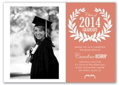 Graduation Announcement Photograph and typography 200 via