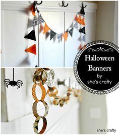She's crafty: Easy Halloween banners: Love that little felt pennant banner!